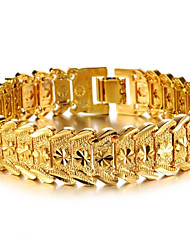 cheap -Women's Cuff Bracelet Bracelet Ladies Stylish Dubai Gold Plated Bracelet Jewelry For Wedding Party Event / Party Dailywear Daily Casual