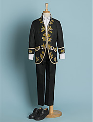cheap -Black/Ivory Polyester Ring Bearer Suit - 4 Pieces
