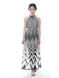 cheap -Women's Maxi Rainbow Dress Summer Party Striped XS S