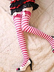 cheap -Princess Women's Sweet Lolita Socks / Long Stockings Lolita Solid Colored Bowknot Lolita Accessories