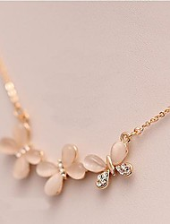 cheap -Cat's Eye Necklace Flower Butterfly Animal Dainty Ladies Opal Alloy Necklace Jewelry For Daily