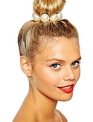 Недорогие -Жен. Резинки для волос Назначение Для вечеринок Повседневные Цветы Искусственный жемчуг Белый