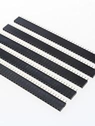 cheap -GDW AZ13 40-Pin 2.54mm Pitch Pin Headers - Black (5 PCS)