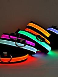 cheap -Dog Collar Light Up Collar LED Lights Nylon Yellow Red
