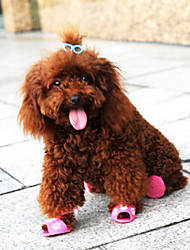 Недорогие -немного шаблон кролика комфортно пластиковые сандалии для животных собаками случайные цвета ассорти цветов