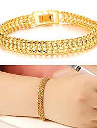 cheap -Women's Cuff Bracelet Unique Design Fashion 18K Gold Plated Bracelet Jewelry Gold For Wedding Party Daily Casual