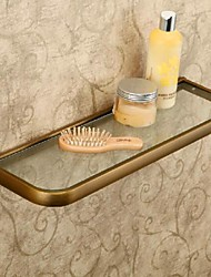cheap -Luxurious Antique Brass Bathroom Shelf  / Glass 2 pc - Hotel bath