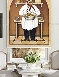 cheap -Oil Painting Style Cartoon Poultry Chef Roller Shade