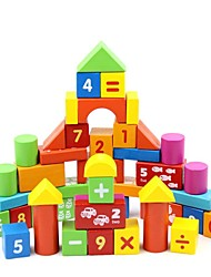 cheap -50 PCS Numbers Wooden Building Blocks Children's Educational Toy