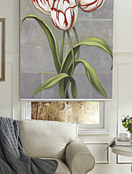 cheap -Oil Painting Style Realistic Tulip Roller Shade
