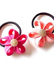 Недорогие -зубцы молнии край волосы цветок кольцо волос веревки случайной доставки