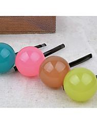 Недорогие -конфеты цвет папки сторона клипа аксессуары для волос шпилька желе прекрасный мяч случайной доставки