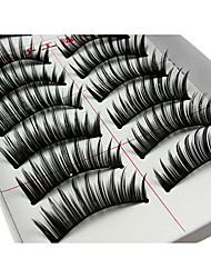 cheap -Eyelash Extensions False Eyelashes 20 pcs Volumized Curly Extra Long Fiber Daily Lengthens the End of the Eye - Makeup Daily Makeup Cosmetic Grooming Supplies