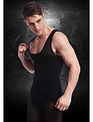 Недорогие -мужчины похудения тела нижнего белья жилет талии пальто рубашка фирма животик живот грудь нейлоновые черные ny027