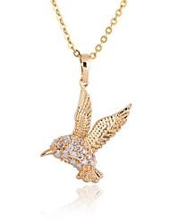 Недорогие -Кулоны Для вечеринки На каждый день Цирконий Золотой Ожерелье Бижутерия Назначение
