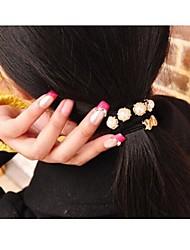 cheap -Fashion High-End Pearl Pendant With Bowknot Hair Ties