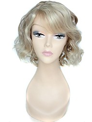 cheap -Synthetic Wig Curly Curly Wig Blonde Synthetic Hair 10 inch Women's White