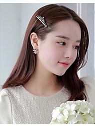 Недорогие -сладкие корейский стиль Хрустальная корона заколки