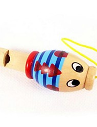 cheap -Wooden toys Animal Small Whistle Random Color
