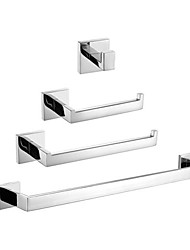 cheap -Bathroom Accessory Set Contemporary Stainless Steel 4pcs - Hotel bath Toilet Paper Holders / Robe Hook / tower bar