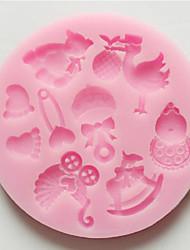Недорогие -3d медведь ноги детские игрушки силиконовые формы помадка sugarcraft шоколад плесень для тортов