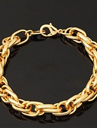 cheap -Women's Chain Bracelet Bracelet Bangles ID Bracelet Chunky Ladies Fashion Gold Plated Bracelet Jewelry Necklace / Bracelet / Necklace & Bracelet For Wedding Party Special Occasion Birthday Gift Daily