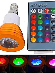 cheap -YWXLight® E14 3W RGB LED Bulb High Power LED Lamps 16 Colors Changeable With IR Remote Controller AC 85-265V