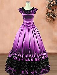 cheap -Classic Lolita Vintage Inspired Dress Women's Girls' Silk Japanese Cosplay Costumes Purple Vintage Sleeveless Long Length / Classic Lolita Dress