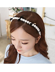 cheap -Fashion Big Pearl with Bowknot Headbands Hair Accessories Hair Ties Random Color