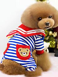 Недорогие -полосатый стиль моряк медведь рисунок четыре ноги штаны для животных собаками разные цвета XXL