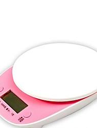 Недорогие -Цифровой ЖК-электронные весы 5 кг / 1 г случайный цвет, пластик 20x16x1.3cm