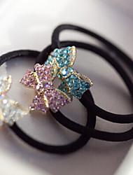 Недорогие -Корея ювелирных небольшой алмаз лук аксессуары для волос волосы кольцо волос веревки случайный цвет