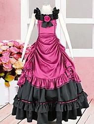 cheap -Dress Gothic Lolita Dress Lolita Accessories Patchwork Dress Silk Halloween Costumes / Long Length