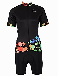 cheap -ILPALADINO Women's Short Sleeve Cycling Jersey with Shorts Plus Size Bike Shorts Jersey Clothing Suit Breathable Quick Dry Back Pocket Sports Bubble Mountain Bike MTB Road Bike Cycling Clothing
