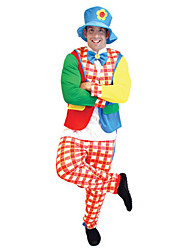 cheap -Burlesque Clown Cosplay Costume Men's Halloween Carnival Festival / Holiday Polyester Men's Carnival Costumes / Top / Hat