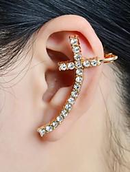 cheap -Women's Ear Cuff Cross Luxury Christ Rhinestone Imitation Diamond Earrings Jewelry For Wedding Party Daily Casual Sports