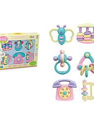 Недорогие -милые мульти-формы дети ребенок кольцо колокол игрушки
