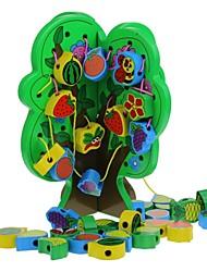 cheap -Wooden Fruit Tree Threading Beads Blocks Toy Educational Toys for Children