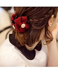 Недорогие -красивые волосы хлопка бантом когти случайный цвет