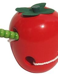 Недорогие -фруктов форму червь есть фрукты игрушка для деревянных детских развивающих игрушек