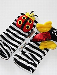 cheap -Baby Feet Rattles Black Soft Toys