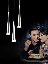 cheap -UMEI™ 3-Light Pendant Light Downlight Chrome Metal LED 90-240V Warm White / White Bulb Included / LED Integrated