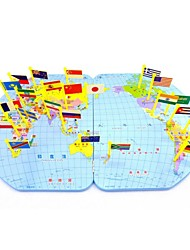 Недорогие -деревянные география карте мира флаги вставляется развивающие игрушки для детей