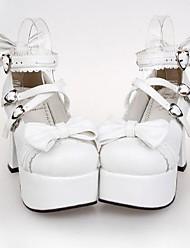 cheap -Women's Lolita Shoes Punk Lolita High Heel Shoes Bowknot 9.5 cm PU Leather / Polyurethane Leather Halloween Costumes / Princess