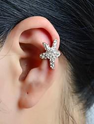 cheap -Women's Ear Cuff Star Starfish Ladies Luxury Rhinestone Imitation Diamond Earrings Jewelry Silver For Wedding Party Daily Casual Sports