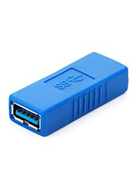 cheap -USB 3.0 A Type Female to Female Coupler Connector Adapter Extender Blue