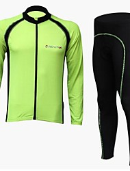 cheap -Realtoo Men's Long Sleeve Cycling Jersey with Tights Orange Green Blue Bike Clothing Suit Breathable Quick Dry Sports Polyester Spandex Mountain Bike MTB Road Bike Cycling Clothing Apparel