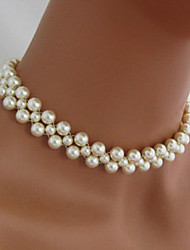 cheap -Women's Pearl Choker Necklace Beaded Necklace Bridal Imitation Pearl White Necklace Jewelry For Wedding Party Casual Daily