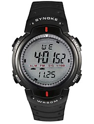 cheap -Men's Sport Watch Digital Watch Digital Quilted PU Leather Black 50 m Water Resistant / Waterproof Alarm Calendar / date / day Digital Black Gray / Chronograph / LED