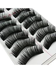 cheap -Eyelash Extensions False Eyelashes 20 pcs Volumized Curly Thick Fiber Daily Makeup Daily Makeup Cosmetic Grooming Supplies